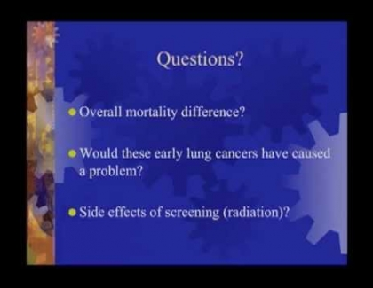 Embedded thumbnail for Early screening is not without risk