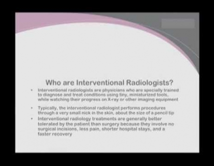 Embedded thumbnail for Who are interventional radiologists?