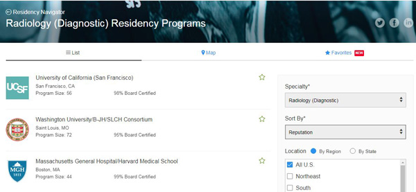 UCSF Diagnostic Radiology Residency Program is a Top-Ranked