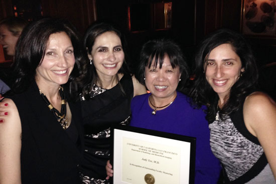 Drs. Christine Glastonbury, Maureen Kohi, Judy Yee, and Stefanie Weinstein.
