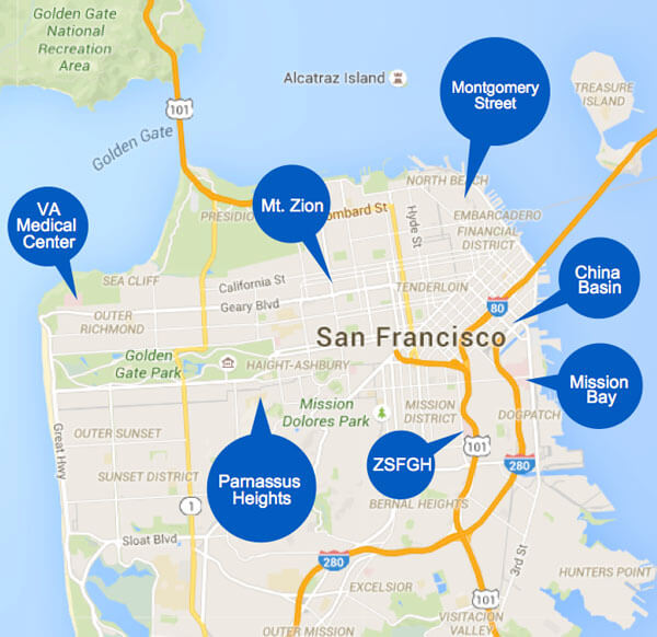 UCSF Medical Center & Imaging Center Locations