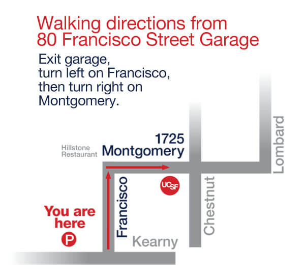 Montgomery St walking map