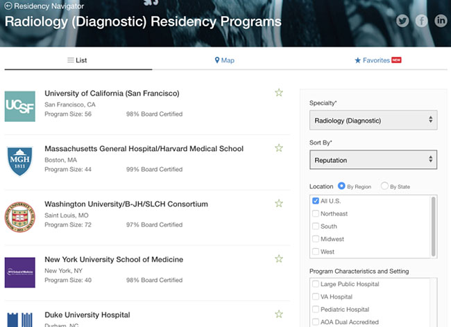 UCSF Diagnostic Radiology Residency Program Ranks #1 in U S