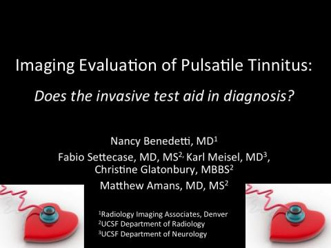 Imaging Evaluation of Pulsatile Tinnitus