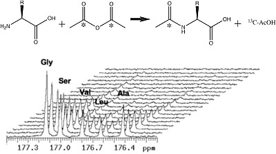Generation of hyperpolarized substrates by secondary labeling with [1,1-13C] acetic anhydride